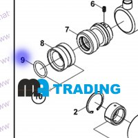 N102003035 Уплотнительное кольцо поршня HIDROMEK